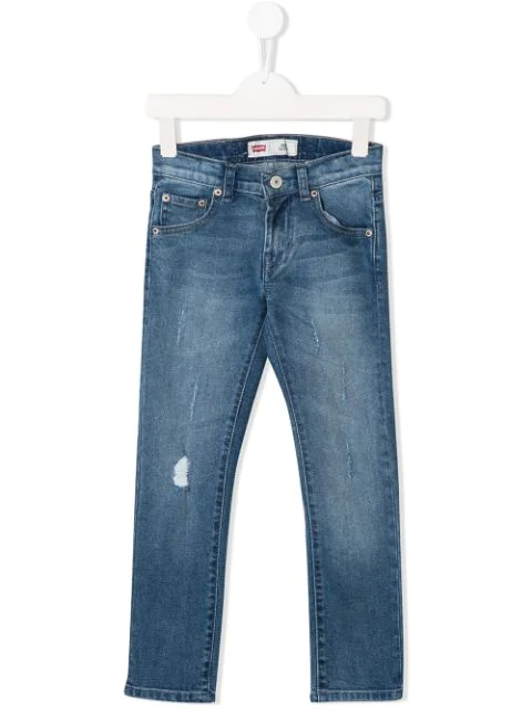 Levi's Kids' Faded Skinny Jeans In Blue