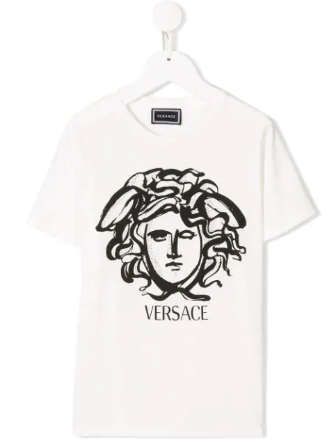 Young Versace Kids' Medusa T-shirt In White