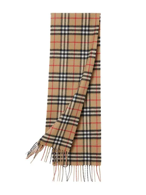 Burberry Kids' The Mini Classic Vintage Check Cashmere Scarf In Neutrals