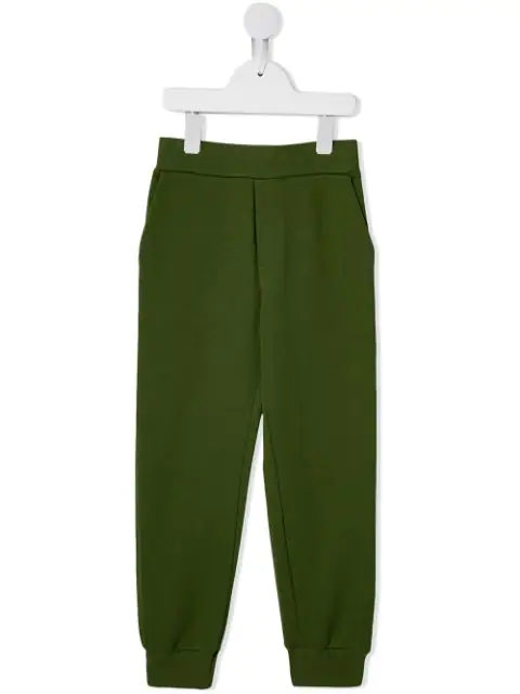 Fendi Kids' Logo Printed Track Pants In Green
