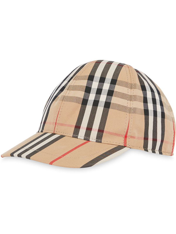 Burberry Unisex Vintage Check Baseball Cap - Big Kid In Neutrals