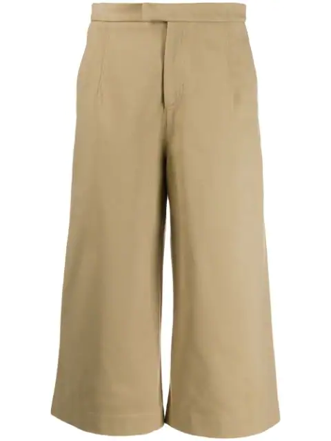 Jejia Nice Pants Cropped Wide Leg In Neutrals