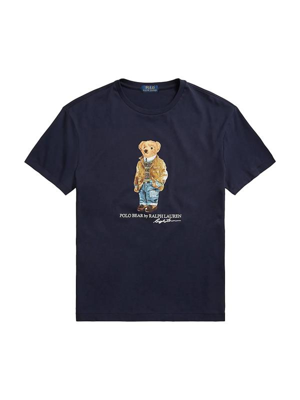 Polo Ralph Lauren Men's Custom Slim Fit Polo Bear T-shirt In Cruise Navy