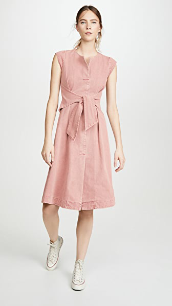 Sea Adaline Dress In Pink Acid Denim