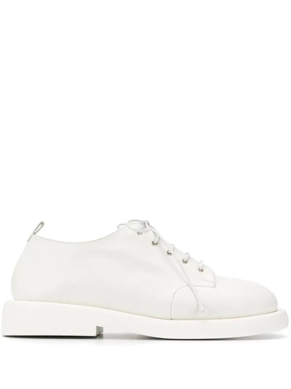 Marsèll Marsell Men's White Leather Lace-up Shoes