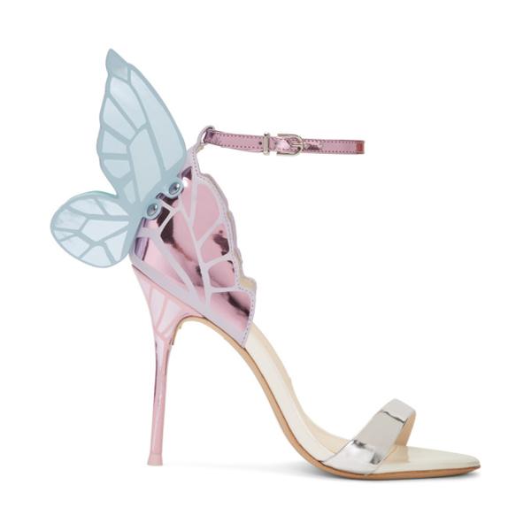 Sophia Webster Women's Chiara Butterfly Metallic Leather Sandals In Silver/mult