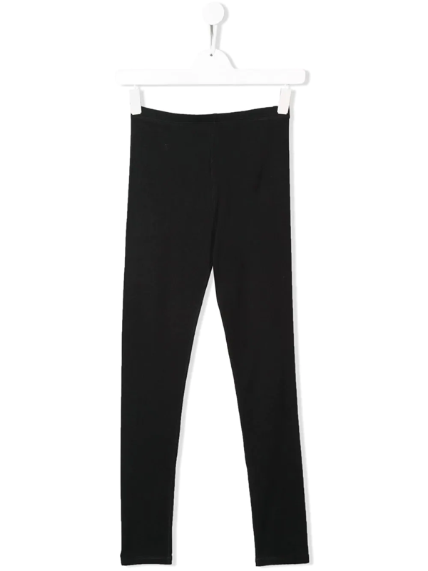 Burberry Kids' Krista Logo Panelled Leggings In Black