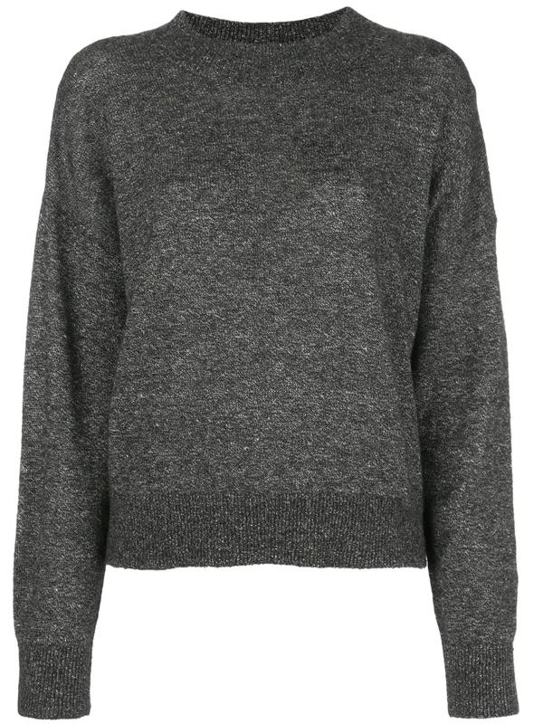 Reformation Elle Crew-neck Jumper In Grey