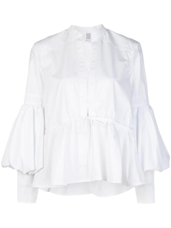 Rosie Assoulin Lantern Sleeve Blouse In White