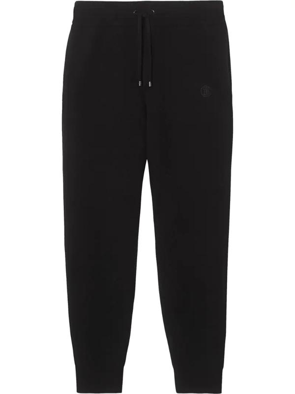 Burberry Hunton Cashmere Blend Pants In Black