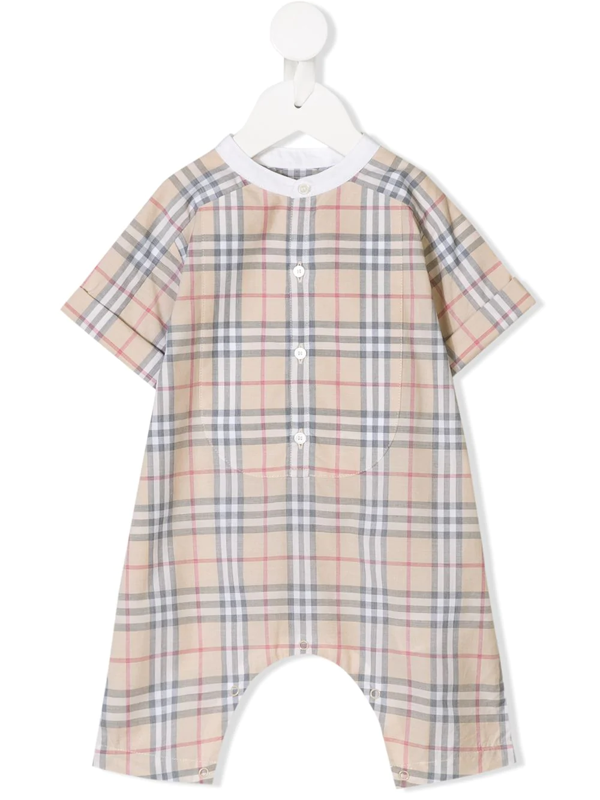 Burberry Babies' Vintage Check Shorties In Neutrals
