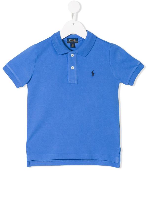 Ralph Lauren Kids' Logo Embroidered Polo Shirt In Blue