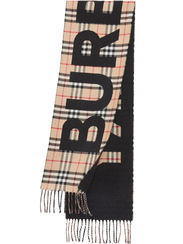 Burberry Kids' Vintage Check Jacquard Scarf In Neutrals