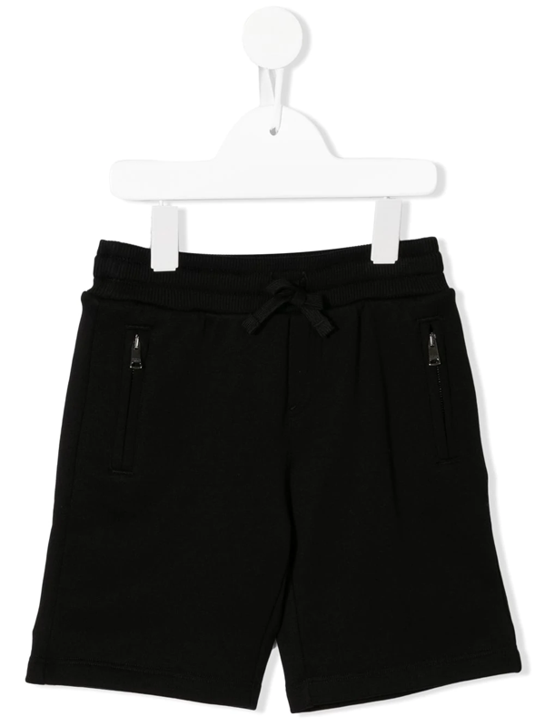 Dolce & Gabbana Kids' Black Cotton Bermuda Shorts