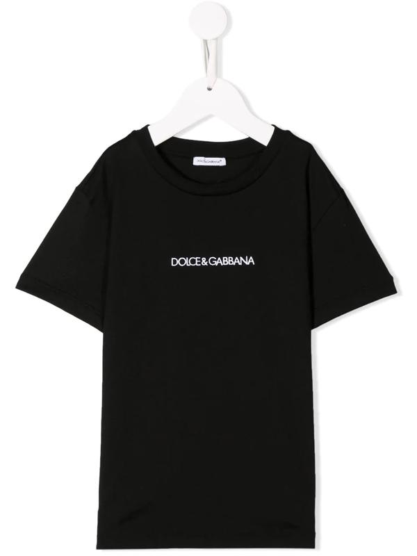 Dolce & Gabbana Kids' Dolce & Gabbana Logo T-shirt In Black