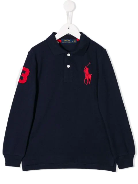 Ralph Lauren Teen Embroidered Logo Polo In Blue
