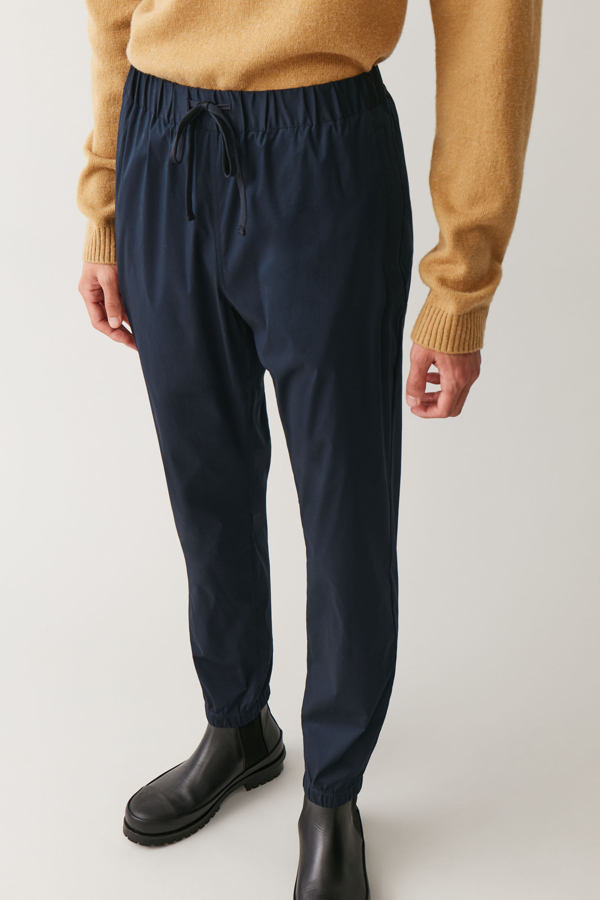 Cos Elasticated Cuffed Trousers In Blue