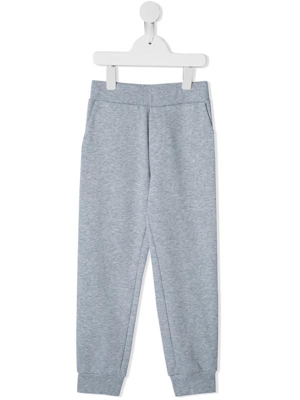 Fendi Kids' Logo Printed Track Pants In Grey