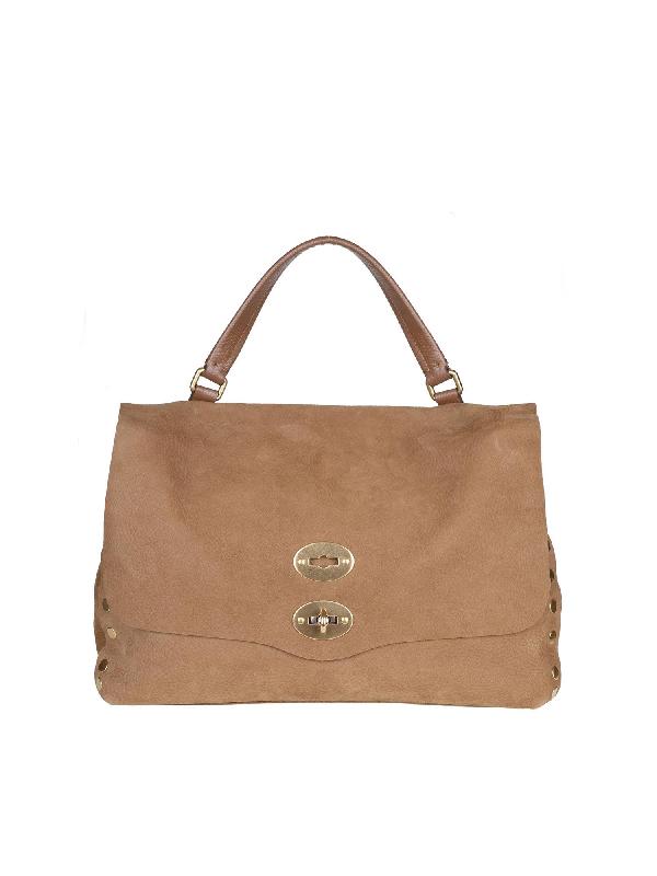 Zanellato Postina M Linea Jones Bag In Farro Color In Brown