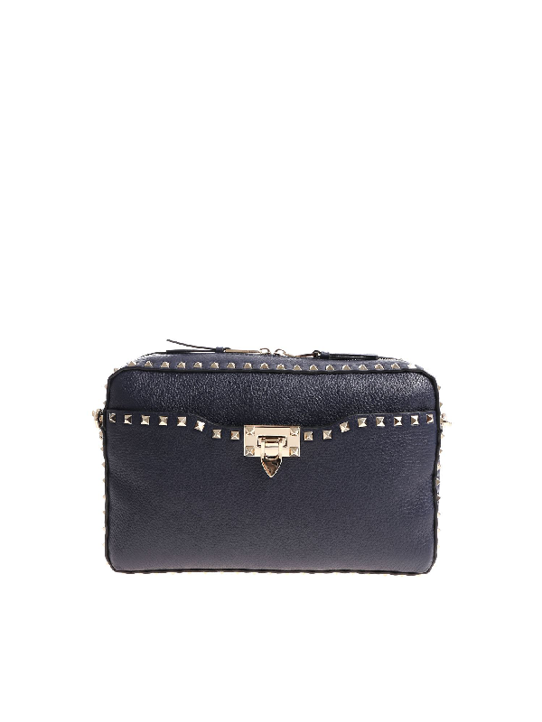 Valentino Garavani Blue Shoulder Bag With Studs