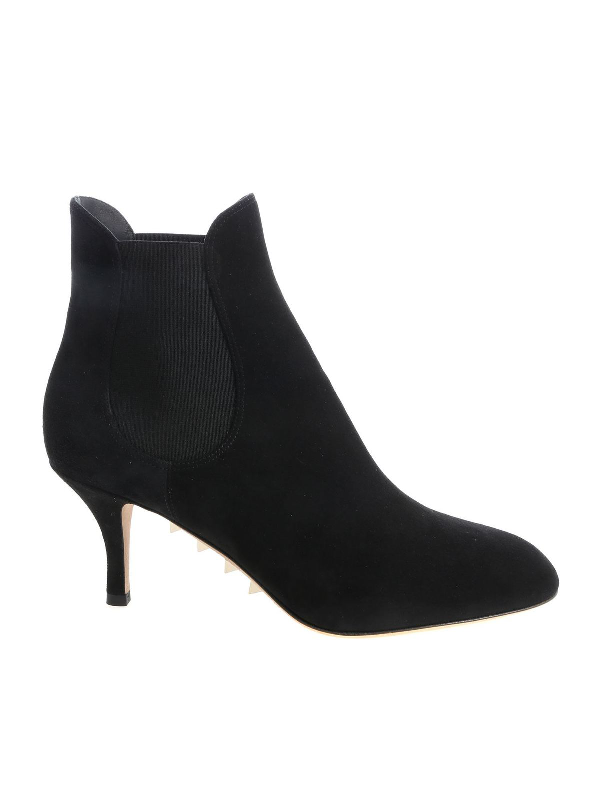 Valentino Garavani Black Ankle Boots With Elastic Bands