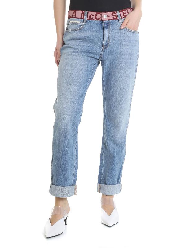 Stella Mccartney Boyfriend Jeans In Light Blue