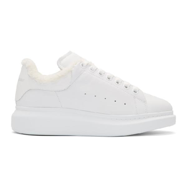 Alexander Mcqueen Ssense Exclusive White Glitter Oversized Sneakers In 9000 White