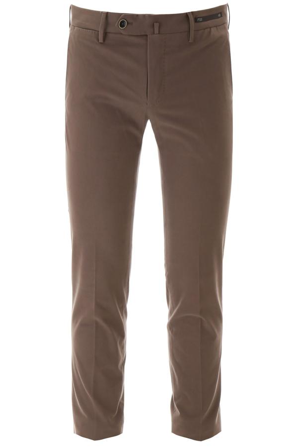 Pt01 Super Slim Fit Trousers In Brown In Lt Brown
