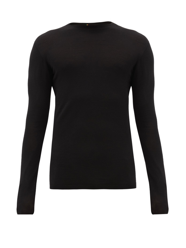 Iffley Road Dartmoor Merino Wool Top In Black