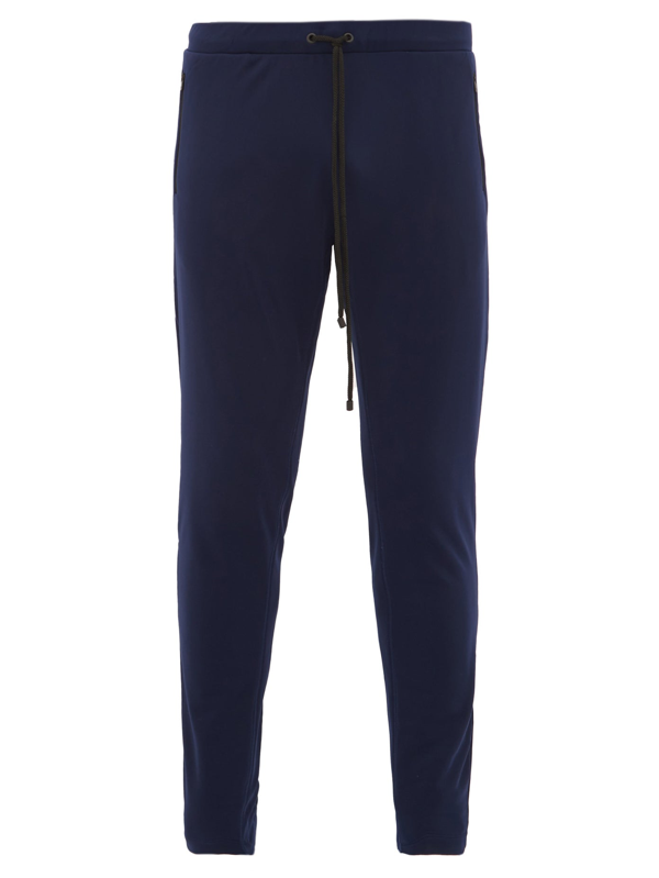 Iffley Road Royston Technical Soft-shell Track Pants In Navy