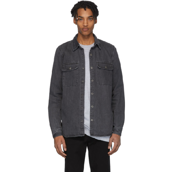 Ksubi Showcase Washed-denim Shirt In Grey