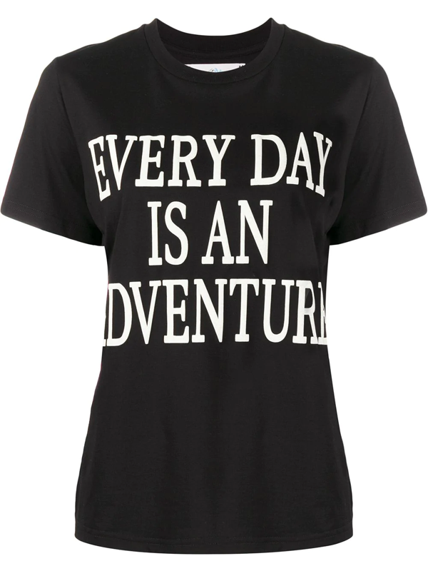 Alberta Ferretti Every Day Is An Adventure Print T-shirt In 黑色