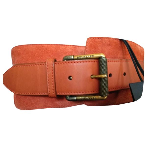 Belstaff Orange Leather Belt