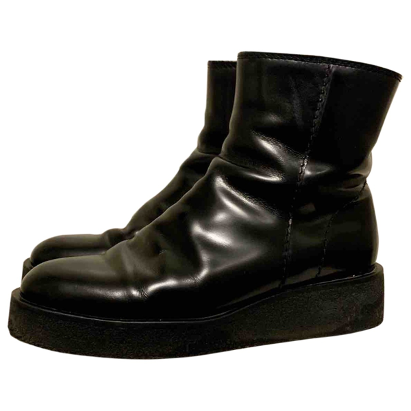 Hope Black Leather Boots