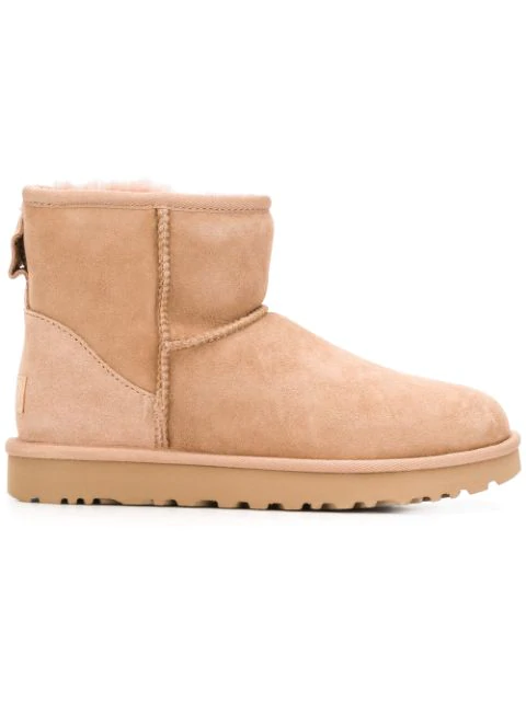 Ugg Ankle Boots Beige Classic Mini Ii In Brown