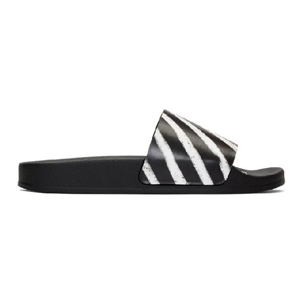 Off-white Men's Spray-stripe Pool Slide Sandals In 8800 Multi