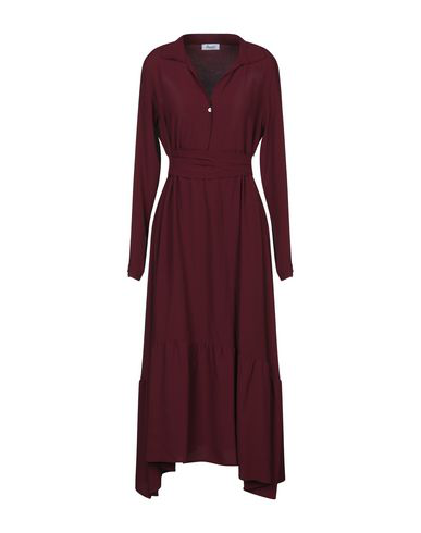 Hopper Midi Dress In Maroon