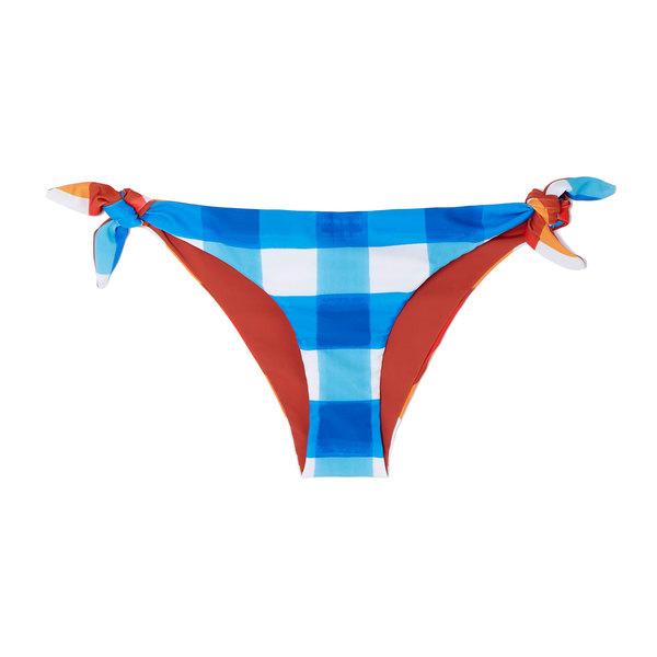 Mara Hoffman Sita Bikini Bottom In Dejeuner In Blue