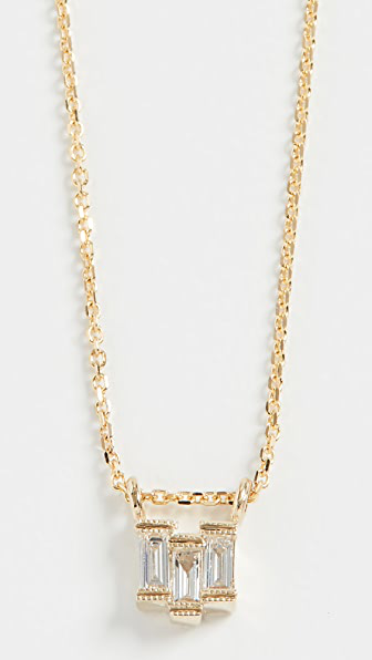 Jennie Kwon Designs 14k Diamond Baguette Step Necklace In Yellow Gold