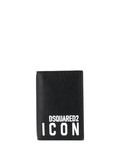 Dsquared2 Icon Bi-fold Card Holder In Black