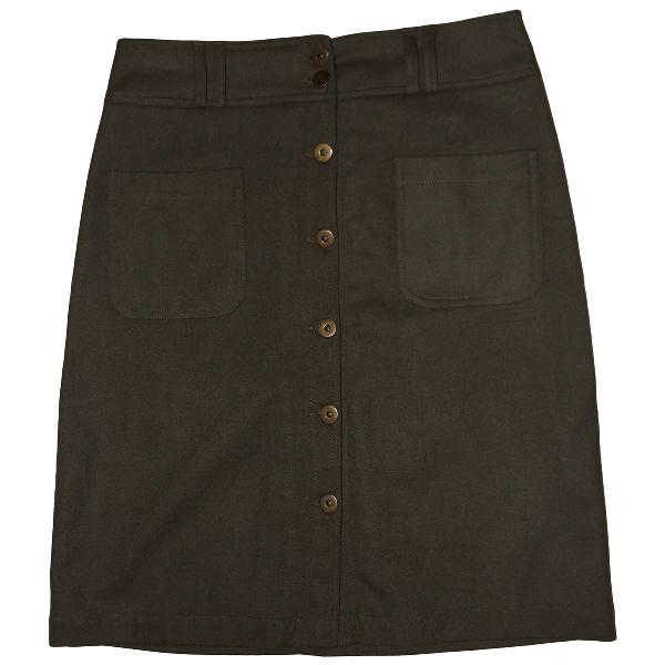 Claudie Pierlot Khaki Wool Skirt