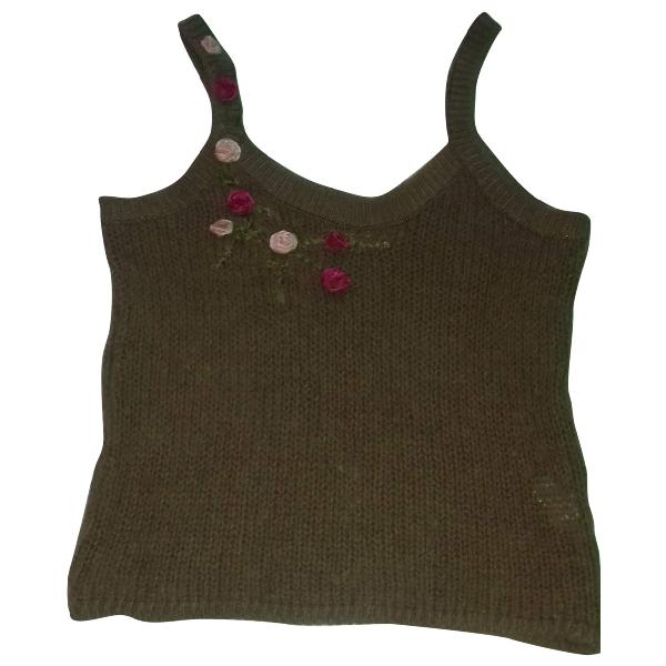 Blumarine Brown Wool  Top
