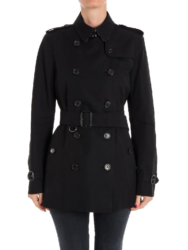 Burberry Cotton Trench In Black