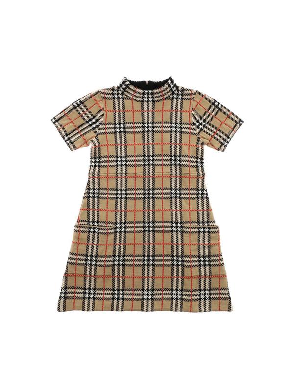 Burberry Kids' Denise Check Dress In Beige