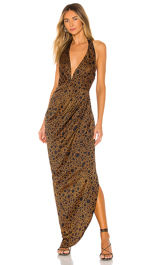 House Of Harlow 1960 X Revolve Aurelia Maxi Dress In Noir Abstract
