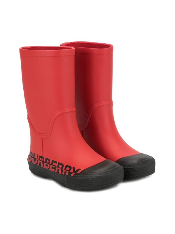 Burberry Kids' Hurston Rain Boots In Red