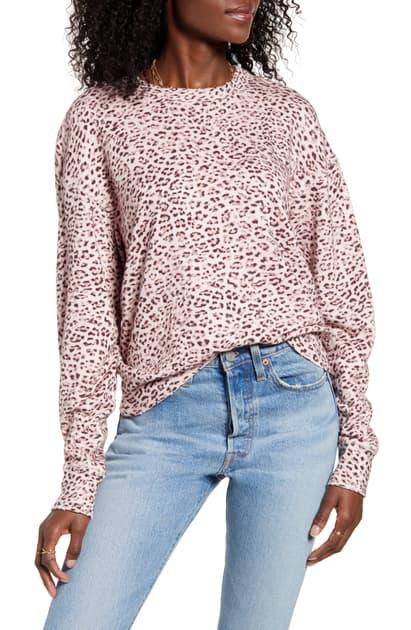 N:philanthropy Lauren Sweatshirt In Blossom Leopard