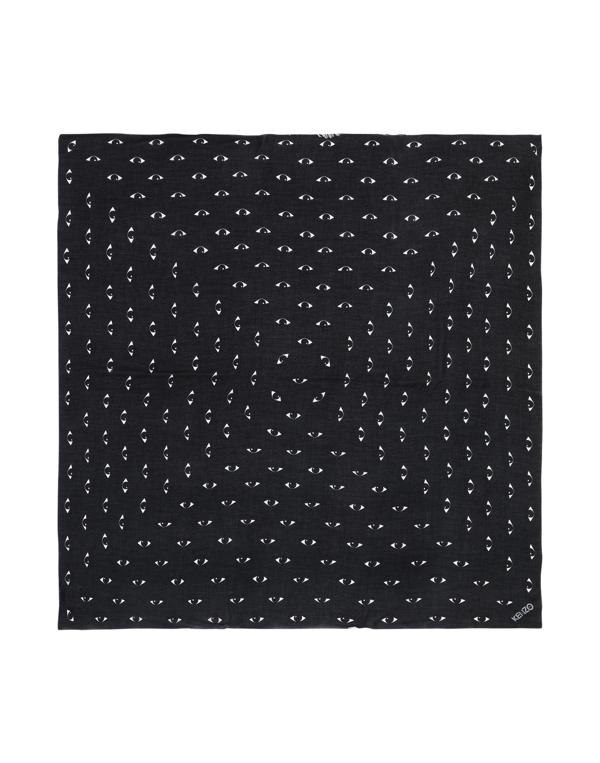 Kenzo Square Scarf In Black