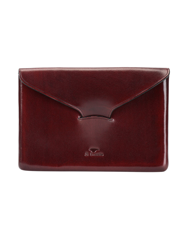 Il Bussetto Document Holder In Maroon