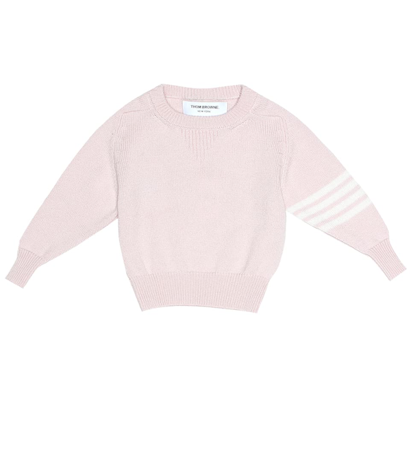 Thom Browne Baby Cashmere Sweater In Pink